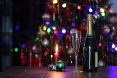La Navidad hermosa y Años Nuevos de escena Foto de archivo