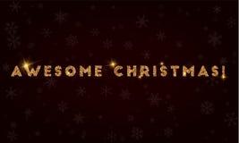 ¡La Navidad impresionante! ilustración del vector