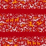 La Navidad inconsútil 6 del vector Fotografía de archivo libre de regalías