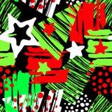 La Navidad inconsútil que repite el modelo expresivo de la tinta del arte de la mano libre illustration