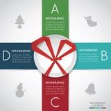 La Navidad infographic Fotografía de archivo libre de regalías