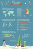 La Navidad infographic Fotos de archivo libres de regalías