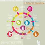 La Navidad infographic, vector Imagen de archivo