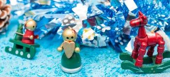 La Navidad Invitación del Año Nuevo Fondo festivo Navidad nueva foto de archivo