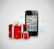 La Navidad Iphone Foto de archivo