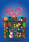 La Navidad Items_eps del regalo de las flores Foto de archivo