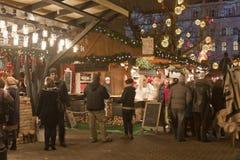 La Navidad justa en el cuadrado de Vörösmarty en Budapest Imagen de archivo libre de regalías