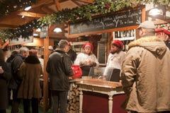 La Navidad justa en el cuadrado de Vörösmarty en Budapest Fotografía de archivo libre de regalías