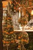 La Navidad justa en el cuadrado de Vorosmarty en Budapest Imagen de archivo