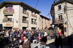 La Navidad justa en Espinelves, España Foto de archivo
