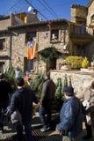 La Navidad justa en Espinelves, España Fotos de archivo