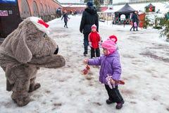 La Navidad justa en Hamina, animadores Fotos de archivo libres de regalías
