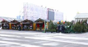 La Navidad justa en Moscú Foto de archivo