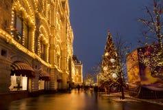 La Navidad justa en Moscú, cuadrado rojo, Rusia Foto de archivo