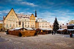 La Navidad justa en Tallinn Fotos de archivo