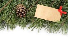 La Navidad La Navidad Rama y topetones de árbol de navidad en un fondo blanco Imagen de archivo