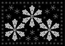 La Navidad - la nieve blanca forma escamas fondo Imagenes de archivo