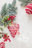 La Navidad lanosa adorna la decoración Imagen de archivo libre de regalías
