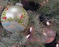 La Navidad llamativa Ornamants Fotografía de archivo libre de regalías
