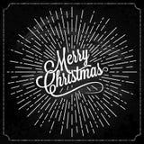La Navidad Logo On Chalk Background Imagen de archivo libre de regalías