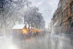 La Navidad Lviv Nevado Imagen de archivo