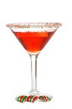 La Navidad martini Imágenes de archivo libres de regalías
