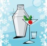 La Navidad Martini del Retro-estilo Imagen de archivo libre de regalías