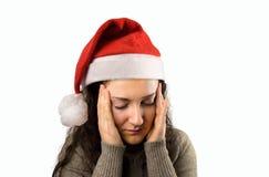 La Navidad me da un dolor de cabeza fotos de archivo