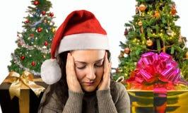 La Navidad me da un dolor de cabeza imágenes de archivo libres de regalías