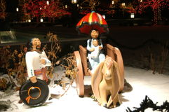 La Navidad mexicana de la natividad en cuadrado del templo Foto de archivo libre de regalías
