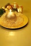 La Navidad mira al trasluz el fondo, aún vida. Foto de archivo libre de regalías