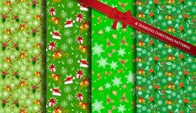 La Navidad modela inconsútil stock de ilustración
