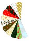 La Navidad modela la carta Imagen de archivo libre de regalías