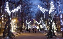 La Navidad Moscú Fotos de archivo libres de regalías