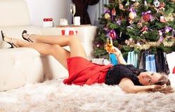 La Navidad, Navidad, invierno, concepto de la felicidad Fotos de archivo libres de regalías