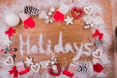 La Navidad nuevo Year& x27; inscripción de s en el fondo Foto de archivo libre de regalías