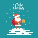 La Navidad Papá Noel Fotografía de archivo