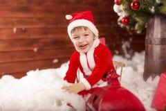 La Navidad Papá Noel Imagenes de archivo