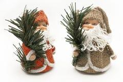La Navidad Papá Noel decorativo sobre el fondo blanco Imágenes de archivo libres de regalías