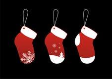 La Navidad pega etiquetas engomadas Fotografía de archivo libre de regalías