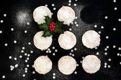 La Navidad pica las empanadas imágenes de archivo libres de regalías