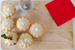 La Navidad pica las empanadas Fotografía de archivo libre de regalías