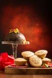 La Navidad pica las empanadas Imagen de archivo libre de regalías