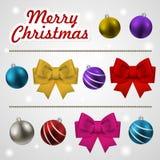 La Navidad que adorna el sistema de elementos Imagenes de archivo