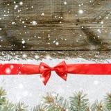 La Navidad que brilla Nevado o fondo del Año Nuevo Imagenes de archivo