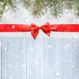 La Navidad que brilla Nevado o fondo del Año Nuevo Imagen de archivo libre de regalías