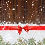 La Navidad que brilla Nevado o fondo del Año Nuevo Foto de archivo libre de regalías