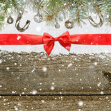 La Navidad que brilla Nevado o fondo del Año Nuevo Foto de archivo