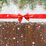 La Navidad que brilla Nevado o fondo del Año Nuevo Fotografía de archivo