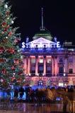 La Navidad que patina en la casa de Somerset Foto de archivo libre de regalías